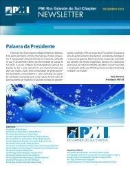 Palavra da Presidente - PMI-RS