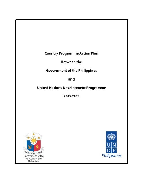 Country Programme Action Plan Between the Government of the ...