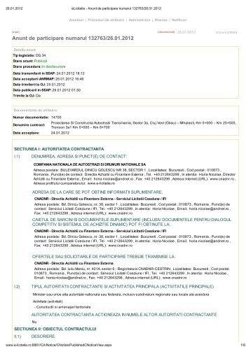 vezi aici anunţul de participare (.pdf) - Ziua de Cluj