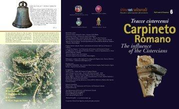 Scarica l'itinerario di Carpineto Romano - Cultura Lazio
