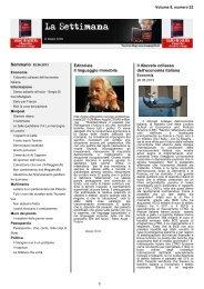 La Settimana - Blog di Beppe Grillo