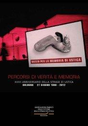 PERCORSI DI VERITÀ E MEMORIA - Comune di Bologna
