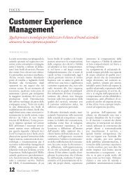 Customer Experience Management - bep business e persone srl