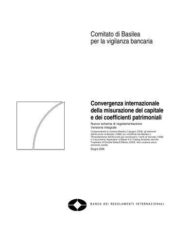 Convergenza internazionale della misurazione del capitale e dei ...