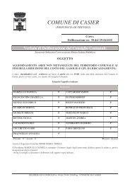 Delibera di Consiglio Comunale n. 30 del 29/04 ... - Comune di Casier