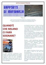 Numero 2, anno 1° - 15 aprile 2010 - RAPPORTO DI MINORANZA