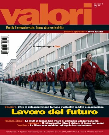 Lavoro del futuro - Valori