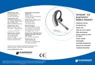VOYAGER™ 510 BLUETOOTH® MOBILE HEADSET - Smk