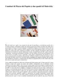 I tamburi di Piazza del Popolo (e due quadri di Malevich). Uno