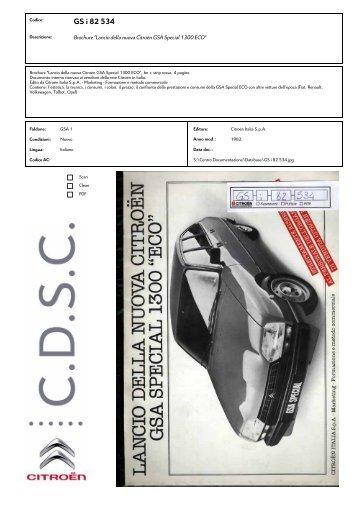 GS i 82 534 - Centro Documentazione Storica Citroën
