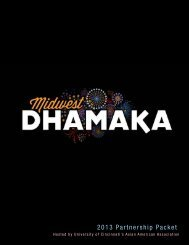2013 Partnership Packet - Midwest Dhamaka
