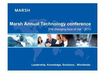 Marsh Annual Technology conference - Marsh India