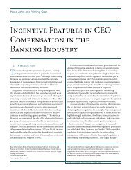 Incentive Features in CEO Compensation in the Banking Industry