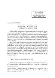 Parafia - podmiotem i miejsce katechezy - Perspectiva.pl