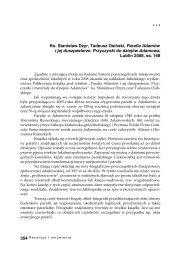 Ks. Stanisław Dzyr, Tadeusz Osiński, Parafia Adamów