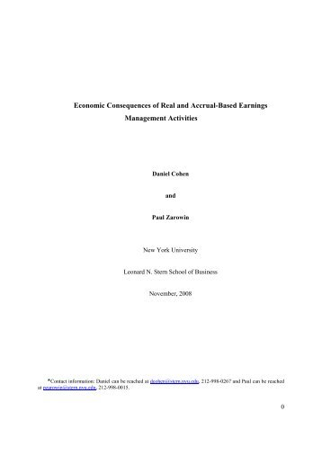 Economic Consequences of Real and Accrual-Based Earnings ...