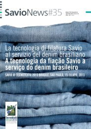 La tecnologia di filatura Savio al servizio del denim brasiliano A ...