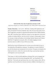 EDITORIAL CONTACT: - Uplinq