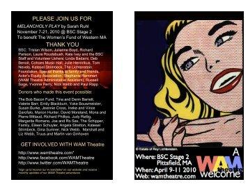 Lorem Ipsum Dolor - WAM Theatre