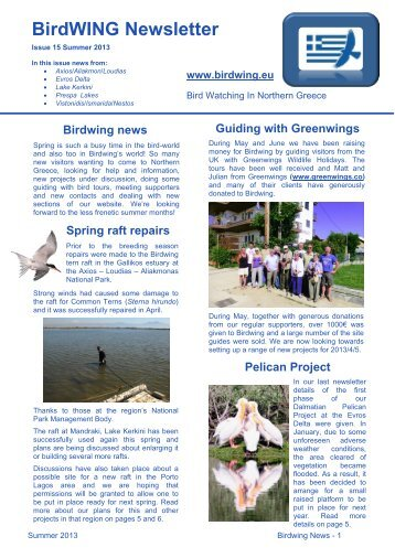 BirdWING Newsletter