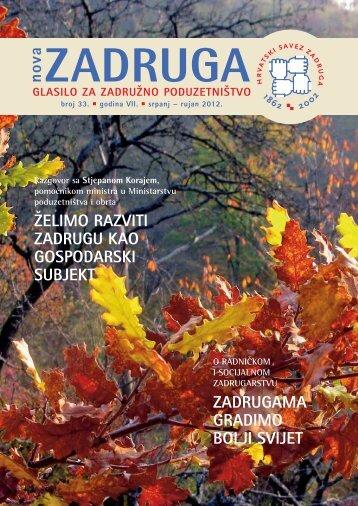 NovaZadruga-33.broj - Hrvatski savez zadruga