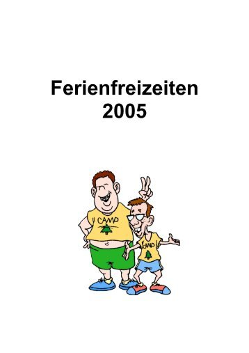 Ferienfreizeiten 2005 - Eifelkreis Bitburg-Prüm