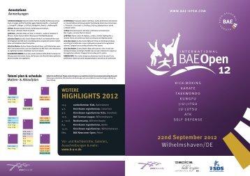 Ausschreibung IBO 2012 - BAE Open