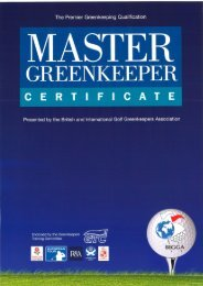 Master Greenkeeper Certificate Brochure - The British and ...