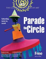 2006 Parade Brochure (PDF) - Cleveland Museum of Art