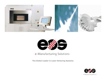The Global Leader in Laser-Sintering Systems