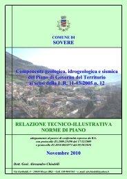 SOVERE Componente geologica, idrogeologica e sismica del Piano ...