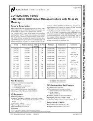COP820C/840C Family 8-Bit CMOS ROM Based Microcontrollers ...