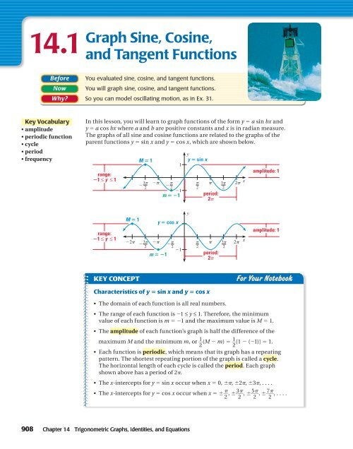 14 1Graph Sine, Cosine, and Tangent Functions