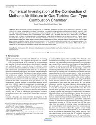 Numerical Investigation of the Combustion of Methane Air Mixture in ...