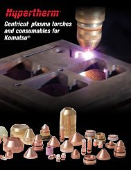 Centricut® plasma torches and consumables for ... - Hypertherm
