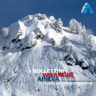 I BOLLETTINI VALANGHE AINEVA - Rete Civica dell'Alto Adige