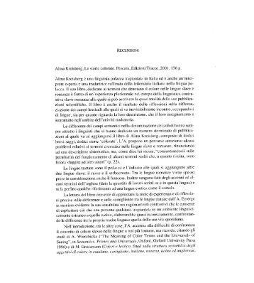 RECENSIONI Alina Kreisberg, Le storie colorate ... - Europa Orientalis