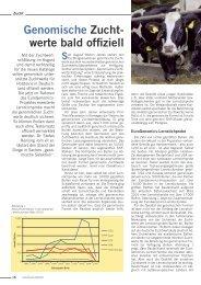 Genomische Zucht- werte bald offiziell - CRI Genetics GmbH