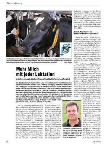 Artikel im Wochenblatt Hessenbauer / Pfälzer Bauer - ALL Rind ...