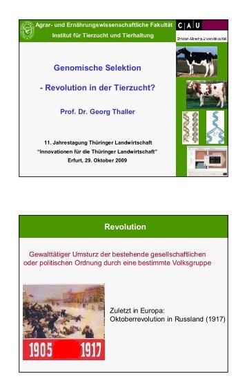 Genomische Selektion - Revolution in der Tierzucht? - AgriGate AG