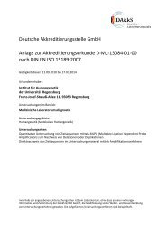 Anlage der Urkunde - Zentrum für Humangenetik - Regensburg