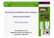 Genomische Selektion beim Schwein - Stand und Ausblick –