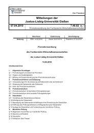 Promotionsordnung des Fachbereichs Wirtschaftswissenschaften