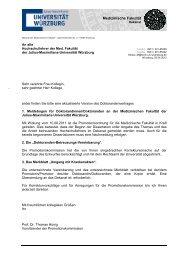 Anmeldebogen / Doktorandenvertrag - Universität Würzburg
