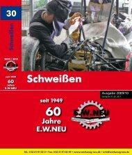 Schweißtechnik 2009 / 2010 - EW NEU GmbH Worms/Speyer ...
