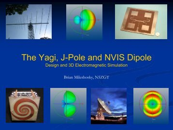 The Yagi, J-Pole and NVIS Dipole