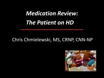 Medications in Hemodialysis - Annakeystone110.org