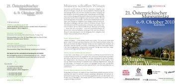 Museen schaffen Wissen - ICOM Österreich