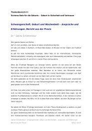 Ansprüche und Erfahrungen. Bericht aus der Praxis.