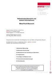 Nebenkostenübersicht Miete - ImmoPOINT - Immobilien in Wien